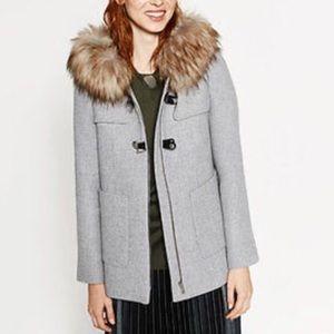 Zara A-Line duffle coat